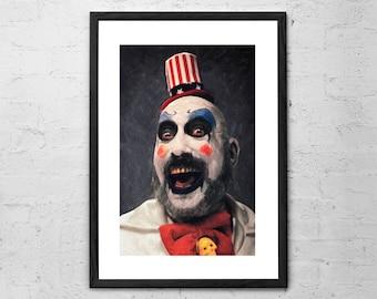 Captain Spaulding - Captain Spaulding Poster - Captain Spaulding Painting - House of 1000 Corpses - Rob Zombie - Horror Movie - Horror Decor