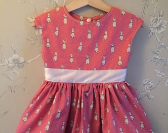 The Un-named Rabbit Pink Dress* Peter Rabbit - Beatrix Potter offical material - limited addition - girls dress