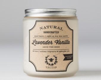 Lavender Vanilla : Jar Soy Candle