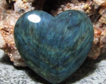 Velvet Obsidian Heart Grooved Cab