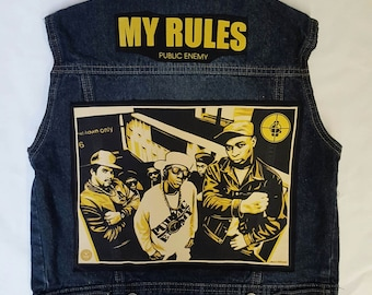 KIDS Public Enemy Rock Vest-size 6-8 kids