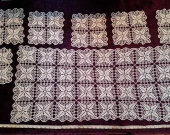 Crochet Tablecloth, Hand Crochet Tablecloth, Crochet Table Cloth, Oval Crochet Tablecloth, Knit Tablecloth, Hand Knitted Tablecloth