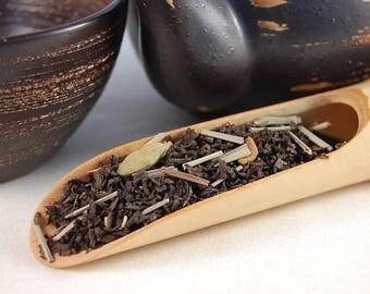 Lemongrass spiced chai, loose leaf tea, 75g sealed pouch, spiced chai tea, Lemongrass, ginger, cinnamon, cloves, cardamon