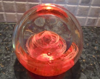 Floral glass paper weight