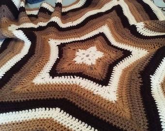 Star shaped baby blanket