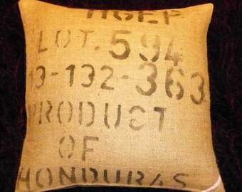 """Pillowcase original coffee bag cushion """"HONDURAS"""" 50 x 50 cm"""