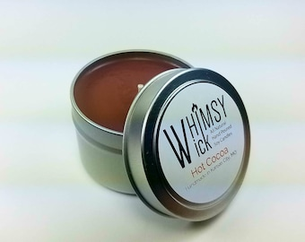 Hot Cocoa 4 Oz Tin, Travel Tin, Scented Candle, Soy Candle, Handmade