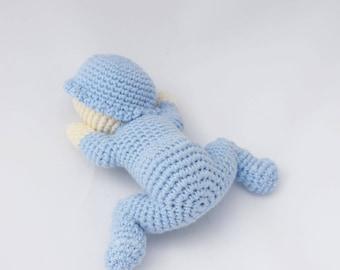 Crochet sleeping baby