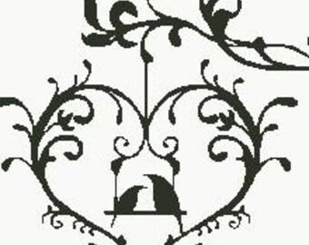 Cross Stitch Pattern PDF Lovebirds