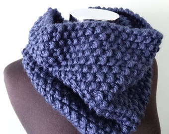 Cowl Neck Scarf in Navy