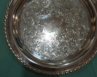 Wm Rogers silver plate serving tray