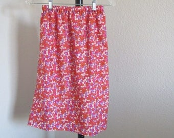Womens Pink Floral Skirt