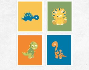 Art Printables | Cute Dinosaur Printables | Set of 4 | Dinosaurs | Nursery Print | Home Decor | Dinosaur Printable | Baby Art