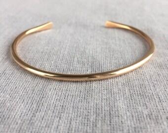 Bronze Cuff Bracelet - golden bronze bracelet