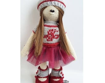 Doll / knitted toy / doll crochet / вязаная игрушка / Кукла