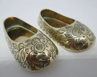 Brass Slippers | Indian Brass Shoes |  Brass Shoes | Miniature Shoes