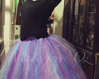 Adult Tea-Length Tutu with crystal accents