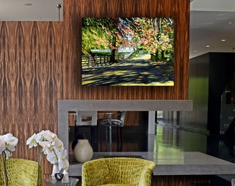 Canvas Art - Landscape Painting - Home Decor - Large Wall Art - Oil Painting - Shadowed Lane