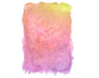 16 x 20 Print - COLOR #12 - Abstract Minimalist Watercolor Print