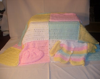 Baby Girl Crocheted Set