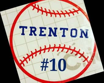 Personalized baseball decal. Please see description