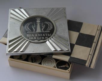 Soviet plastic traveling chess and checkers. Soviet chess. Soviet checkers. Soviet road chess. Chess USSR. Vintage chess. traveling chess.