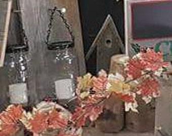 Set of two Rustic Hanging Lanterns