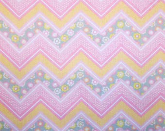 Fitted Crib Sheet Floral Chevron