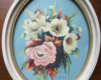 Georgia B. Caldwell, framed floral print from 1942
