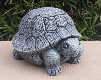 Large Stone Turtle   Handmade And Hand Painted Concrete Garden Statue