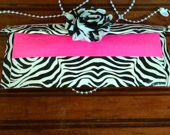 Duck tape purse - Zebra