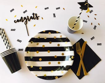 Graduation Party, Graduation Plates, Graduation Party Decorations