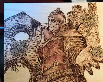 Apollyon Woodburning Art