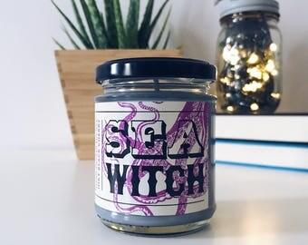 Sea Witch Bookish Soy Candle v2  | Fairy Tale and Book Inspired The Little Mermaid | Ursula