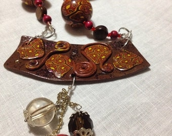 ♥ Miniature marron with charm