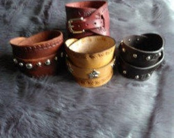 Leather Cuff Bracelet / Wrist support Strap