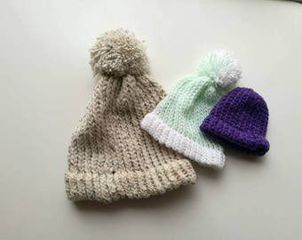 made to order childs chunky loom knit hat