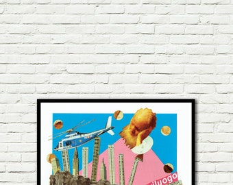 Fuoriluogo-print-Pop Art-surreal (paper, vintage clippings, glue)