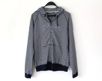 90's Tommy Hilfiger Sweatshirt Vintage Tommy Hilfiger Hoodie Stripe Tommy Hilfiger Sweater Blue White Tommy Hip Hop Streetwear  Size L