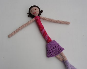 Leila, crochet doll