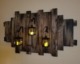 Rustic Modern wall lanterns