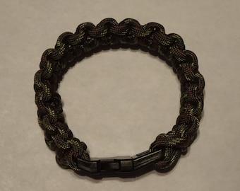 Handmade Paracord Bracelet - Forest/Green Camo