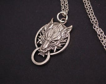 Final fantasy seven VII lion necklace