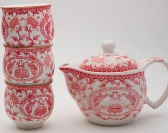 Oriental Hidden Wall Tea Set
