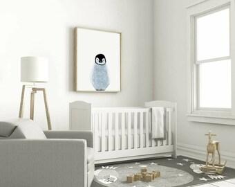 Penguin Nursery print (frame not included)