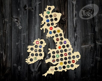 Beer Cap Map of Great Britain