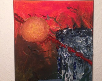 "Abstract paintings - ""sunrise"""