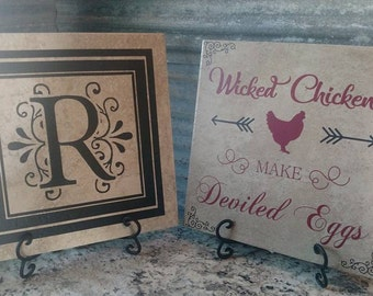 Personalized Tile with Easel
