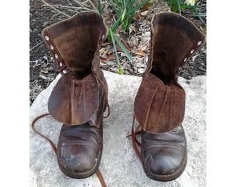 vintage military boots men's sz 10 R