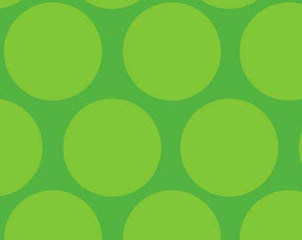 Camelot Cottons Green Tone on Tone Polkadot Fabric 100% cotton SALE 1 yard